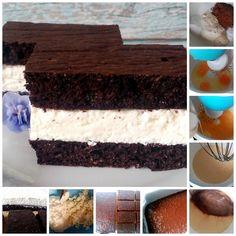 Diétás Kinder tejszelet - Salátagyár Low Calorie Recipes, Diet Recipes, Healthy Recipes, Healthy Meals, Gluten Free Desserts, Tiramisu, Paleo, Tasty, Sweets
