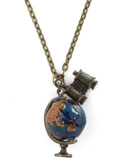 Sense of Self-Earth Necklace - Blue, Gold, Scholastic/Collegiate, Top Rated