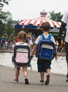 His and hers backpacks. Cute...and perfect for a day in the city!  (courtesy of Jessica Shyba, mommasgonecity)
