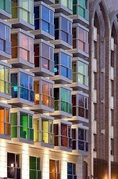 Hotel Hesperia in Bilbao  http://www.facebook.com/ThreeLittlePigsColourAndDesign #colour