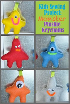 How to Make Monster Plushie Keychains by Little Birdie Secrets
