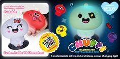 Chuppi - Art Toy and Customizable Wireless Light $40
