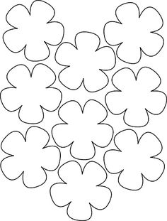Printable Flower Templates - AZ Coloring Pages Image detail for -Hawaiian Paper Flowers Lei Hawaiian template Crafts,Actvities and Worksheets for Preschool,Toddler and Kindergarten.Lots of worksheets and coloring pages. Felt Flowers, Diy Flowers, Fabric Flowers, Paper Flowers, Small Flowers, Felt Crafts, Paper Crafts, Fabric Crafts, Fleurs Diy