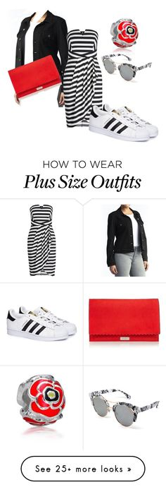 """Low cost plus size"" by cathey-w-ingram on Polyvore featuring Lee, adidas, Bling Jewelry and Eloquii"
