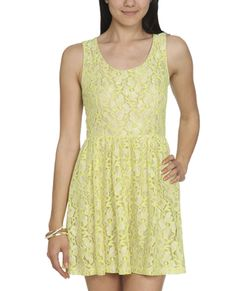 neon lace skater dress $32.90 (wet seal)