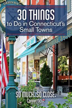 Plan a visit to a few of Connecticut& charming towns this summer and discover all that there is to do throughout the state. Here are 6 to get you started and suggestions on things to see, eat and do! Vacation Places, Vacation Destinations, Dream Vacations, Vacation Spots, Places To Travel, Family Vacations, Vacation Ideas, New England States, New England Travel