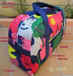 Aprende como crear bolso o maleta de viaje - Curso de costura Diy Purse, Clutch Purse, Tote Tutorial, Diy Couture, Insulated Lunch Bags, Denim Bag, Kids Backpacks, Cute Bags, Knitted Bags
