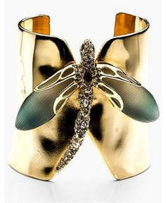 Alexis Bittar Lucite Neo Bohemian Dragonfly Cuff Bracelet