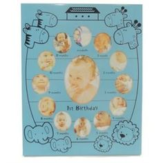 İlk 12 Ay Bebek Yaş Çerçevesi-Metal