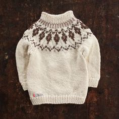 Hand-Knit Sweater Gudny - Natural - 1-4y