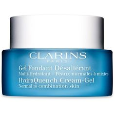 Clarins HydraQuench Cream-Gel Normal to Combination Skin/1.7 oz. (5210 RSD) ❤ liked on Polyvore featuring beauty products, skincare, face care, face moisturizers, beauty, apparel & accessories, no color, face moisturizer, oil free face moisturizer and clarins