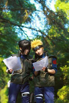 上忍VER. - JUN(純白) Naruto Uzumaki, MANIA(亂紅) Sasuke Uchiha Cosplay Photo - Cure WorldCosplay