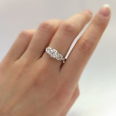 $48.75  2.0 Carats total 3-Round Cut Diamond Simulants by Besbelle on Etsy
