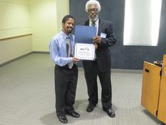 HAPPY FATHER'S DAY! Mr. Bryan Bemley receives his 2014 Regional IT Showcase ( #ITSC ) Certificate from his father, Mentor, and research paper's Principal Investigator (PI), Dr. Jesse Bemley, on behalf of his Host #BDPA Chapter, BDPA-DC. This year's IT Showcase Lunch was presented to Industry and #HSCC students participating in National BDPA's annual Regional #TECH Summit  2015 #APBI (Advance Program Briefing to Industry) at Bowie State University. Photo by Catherine Williamson, bdpatoday ©…
