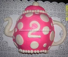Homemade Teapot Birthday Cake: I made this Teapot Birthday Cake with tips from this site and allrecipes.com for my daughter's second birthday cake. It was one of two cakes that I made