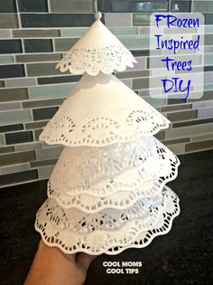 Easy and quick trees for a winter wonderland decor!