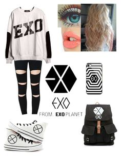 """""""EXO"""" by faygoman ❤ liked on Polyvore featuring KRISVANASSCHE and Charlotte Tilbury"""