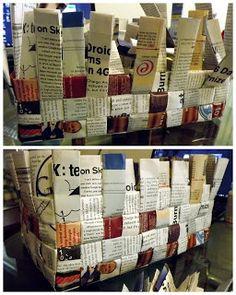 Magazine Basket DIY tutorial