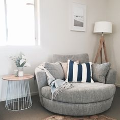 How to Style Your Snuggle® Chair: Three Ways with Jayde. Bedroom Couch, Room Ideas Bedroom, Bedroom Decor, Lounge Chairs For Bedroom, Bedroom With Couch, Design Living Room, Home Living Room, Living Room Decor, Chairs For Living Room