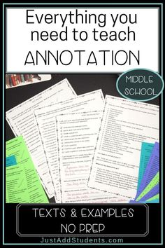 Here's everything you need to teach your students annotation skills that will improve close reading. Close Reading Lessons, Close Reading Strategies, Common Core Ela, Middle School English, Create Words, Student Reading, School Notes, Language Arts, English Language