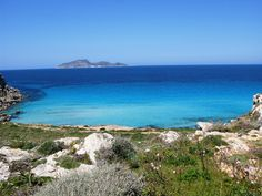 Thousands of shades of blue: the sea in Favignana, Sicily