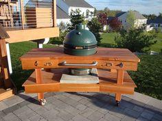 Big Green Egg Table - Cedar II