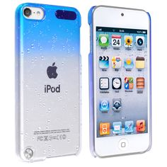 Insten Blue Clear 3D Waterdrop Hard Snap-on Glossy Case Cover For Apple iPod Touch 5th/ 6th Gen
