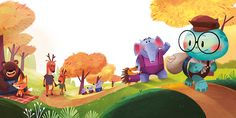The rabbit AND The turtle Children book on Behance
