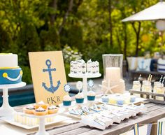 They have this set up for a baby shower but I think what a great summer party idea!