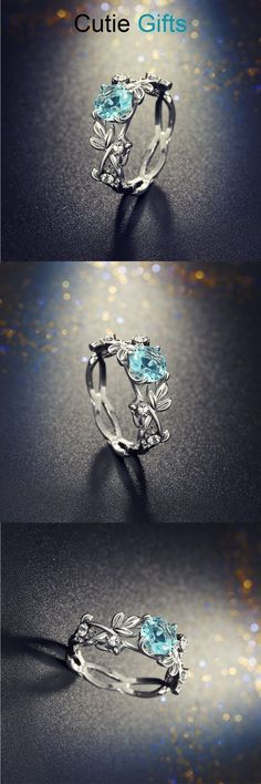 Crystal Leaf Engagement Ring You are in the right place about diy jewelry rings how to make Here we Diy Jewelry Rings, Diy Jewelry Unique, Diy Jewelry To Sell, Cute Jewelry, Jewelry Accessories, Jewlery, Jewelry Holder, Modern Jewelry, Jewelry Crafts