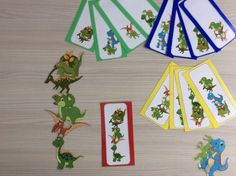 Stapeldino's met opdrachtkaarten in 4 verschillende niveaus volgens het aantal dinosaurussen. *liestr* Dinosaur Classroom, Kindergarten Lessons, Animals, Games, Colors, Projects, Nursery School, Gaming, Math