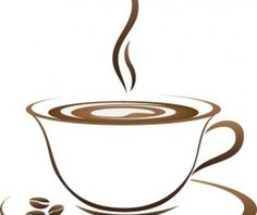 Cup with coffee abstract illustration vector 08
