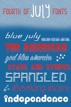tessacotton: 10 Free Fourth of July Fonts  ~~ {w/ links}