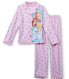 PALACE PETS Fleece Pajamas Girls 6/6x NeW Button Shirt Pants Pjs Disney Princess #Disney #PajamaSet