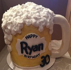 Beer Mug Cake, Male Birthday Cake, Cake for Men, Beer Cake #beercake #beermugs