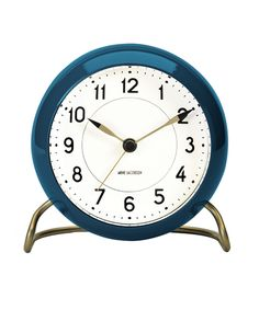 43678 Station Table Clock Blue Arne Jacobsen ¥14,000