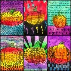 Art. Eat. Tie Dye. Repeat.: Did Someone Say Fall? The Fall Art Edition - zentangle pumpkins