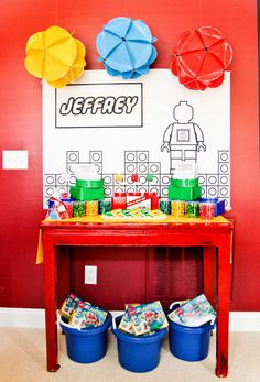 Lego Party decor and games ideas