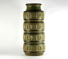 Scheurich Alaska ight green and brown vase Alaska by RetroRetek