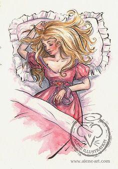 Alene Illustration: Watercolor: Sleeping Beauty