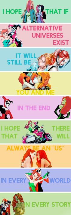 Harlivy | Harley Quinn | Poison Ivy | DC comics | girlfriends | otp | gay | lesbian | bisexual | LGBT | LGBTQ+