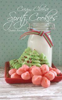Cream Cheese Spritz Cookies - seriously the best ever!