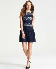 Flounce Hem Lace Dress #ATHauteHoliday