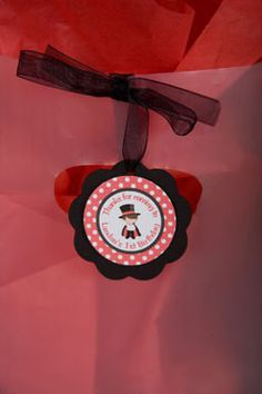 Magician Favor Tags Birthday Party