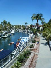 Naples Island, CA -- best place for an easy flat stand-up-paddle outing!