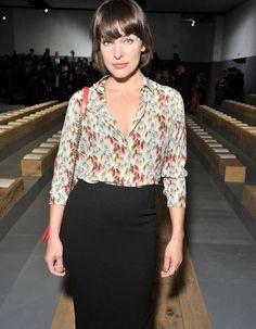 Milla Jovovich au défilé Dior