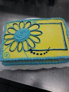 Sheet Cake with flower frame
