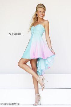 Sherri Hill 11064 High Low Ombre Short Prom Dress
