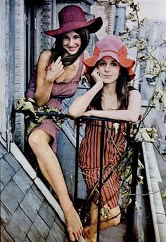 Paris, 1965...the great Vicky Tiel (on bottom)...if you have not read her memoir It's All About The Dress...DO! It's delicious!