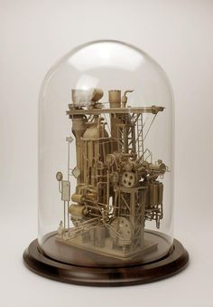 Incredible Intricate Cardboard Sculptures by Daniel Agdag #steampunk - Pinned by Idea Concept Design